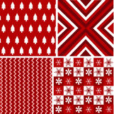 Seamless patterns, christmas fabric texture Stock Images