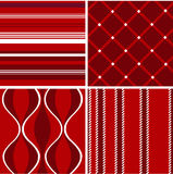Seamless patterns, christmas fabric texture Royalty Free Stock Photography