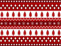 Seamless patterns with christmas fabric texture Stock Photography