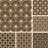 Seamless patterns with circle elements. Royalty Free Stock Photos