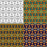 Seamless patterns with circles Stock Photo