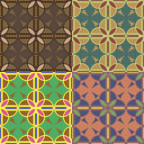 Seamless patterns with circles Stock Image