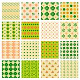 Seamless patterns with clover Stock Photography