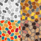 Seamless patterns of coffee beans Royalty Free Stock Image
