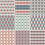 Seamless patterns collection Stock Images