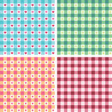 Seamless patterns collection Stock Photography
