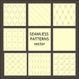 8 seamless Patterns collection.  Stock Image