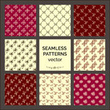 8 seamless Patterns. Collection backgrounds Royalty Free Stock Photo