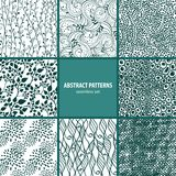 Seamless patterns collection Stock Photos