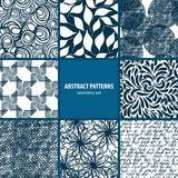 Seamless patterns collection Royalty Free Stock Photo