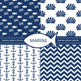 Seamless patterns collection. Royalty Free Stock Photo