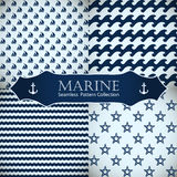 Seamless patterns collection. Royalty Free Stock Image