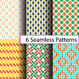 6 seamless patterns Royalty Free Stock Images