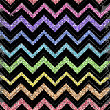 Seamless patterns color  with black,gold,zigzag line. Stock Images