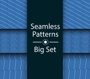 Seamless Patterns with color 3D rectangles, Big Set, vector. Seamless Patterns with color 3D rectangles, Big Set Stock Image