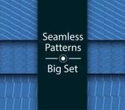 Seamless Patterns with color 3D rectangles, Big Set, vector. Seamless Patterns with color 3D rectangles, Big Set vector illustration