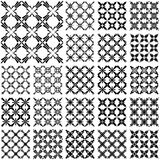 Seamless patterns with cross elements. Stock Photography