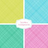 Seamless patterns with cross lines Royalty Free Stock Photography