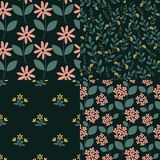 Seamless patterns Stock Photo