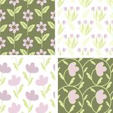 Seamless patterns Stock Image