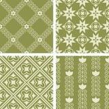 Seamless patterns Royalty Free Stock Photos