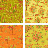 Seamless patterns with decorative tree from mosaic Stock Photo