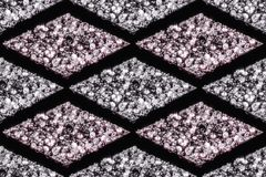 Seamless patterns of diamonds in white and pink colors stock image