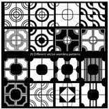 20  seamless patterns Royalty Free Stock Photos