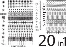 Seamless patterns of different unique shapes ,set of unique and Royalty Free Stock Images