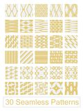 30 Seamless Patterns. 30 different vector seamless patterns Stock Photo