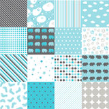 Seamless Patterns - Digital Scrapbook Royalty Free Stock Photos