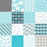 Seamless Patterns - Digital Scrapbook Royalty Free Stock Photos