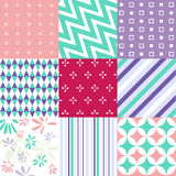 Seamless Patterns - Digital Scrapbook Royalty Free Stock Images