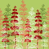 Seamless Patterns with Drawing sprigs of flowers Stock Images