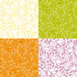 Seamless patterns with Easter eggs, bunnies Royalty Free Stock Photography