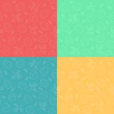 Seamless patterns with Easter eggs Stock Image