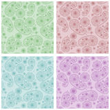 Seamless patterns in eastern style Royalty Free Stock Photos