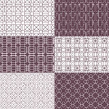 Seamless patterns. Editable, no gradients and clipping mask. Stock Photography