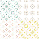 Seamless Patterns. Elegant collection of four geometric seamless patterns. Ornamental background for cards, invitations, web pages. Retro texture or digital Stock Image