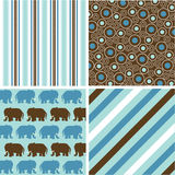 Seamless patterns with fabric texture Stock Photography