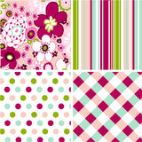 Seamless patterns with fabric texture Stock Image