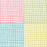 Seamless patterns with fabric texture royalty free illustration