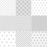 Seamless patterns with fabric texture Stock Photos