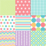 Seamless patterns with fabric texture Royalty Free Stock Photos