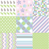 Seamless patterns with fabric texture vector illustration