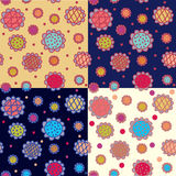 Seamless patterns floral   set Royalty Free Stock Photos