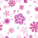 Seamless patterns with flowers and leaves Royalty Free Stock Image