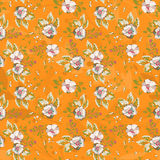 Seamless patterns with flowers and leaves Royalty Free Stock Images