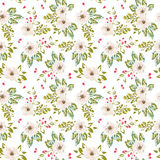 Seamless patterns with flowers and leaves Stock Photos