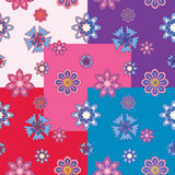 Seamless patterns of flowers. 5 seamless patterns of ornamental flowers Royalty Free Stock Photos